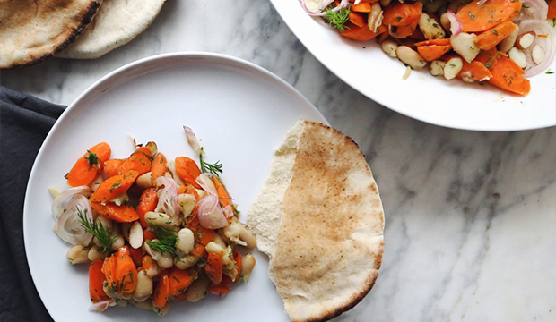Warm Cannellini and Browned Carrot Salad with Dill and Maple: From Alexandra Dawson