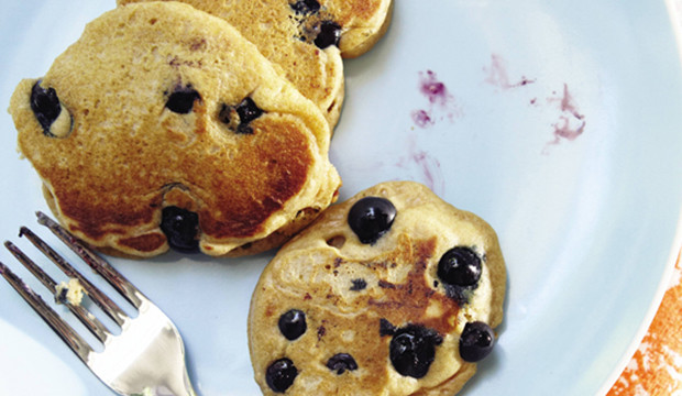 blueberry lemon whole wheat pancakes get the recipe