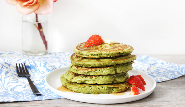 Matcha Coconut Pancakes - Get The Recipe!