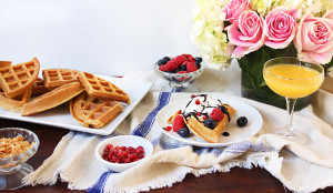Polenta Waffles with All the Fixings – Get The Recipe!