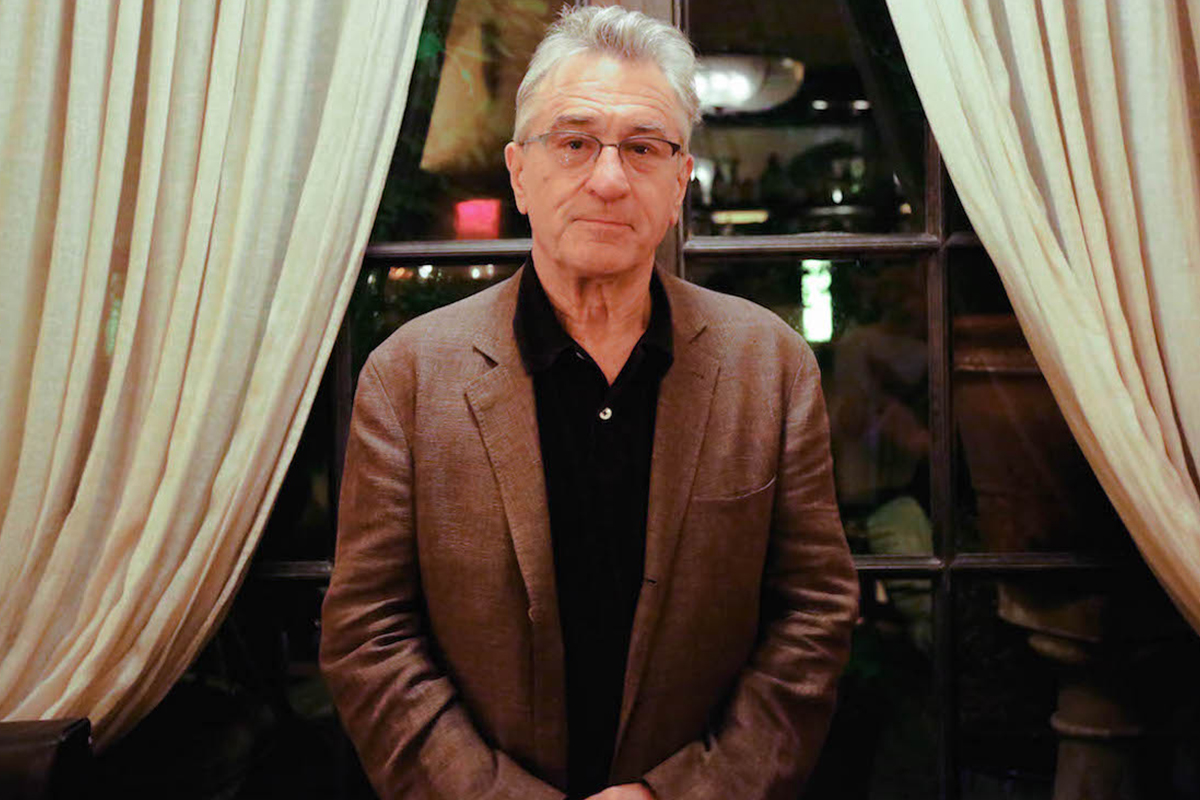 Robert De Niro Loves a Vodka Martini