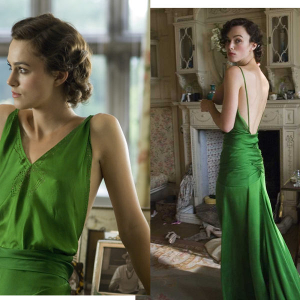 In Wardrobe with Keira Knightley's Green Slip Dress