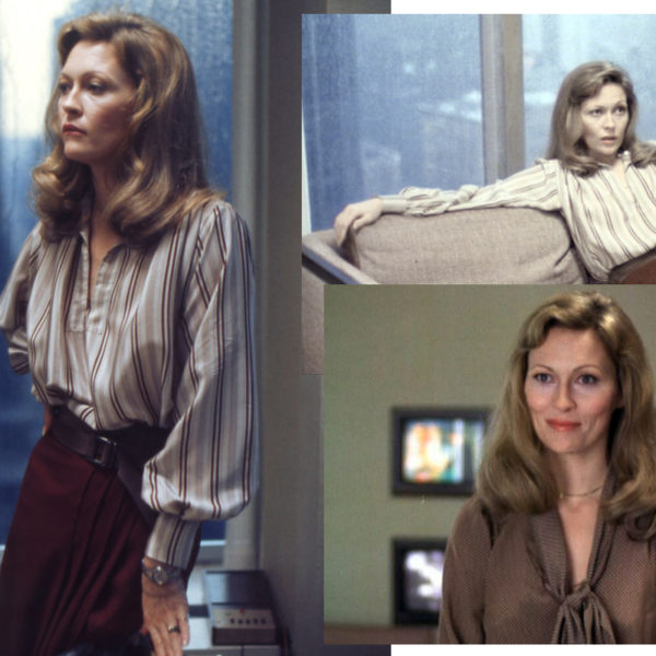 In Wardrobe with Faye Dunaway's Silk Blouse